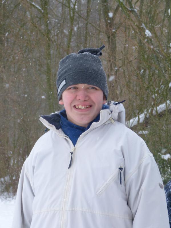 Kalli im Schnee